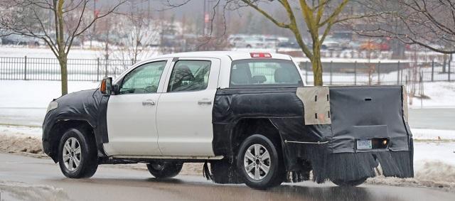 2021 Toyota Tundra Spy Shot Rear Suspension