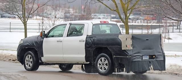 2021 Toyota Tundra Redesign Spy Shot Rear Suspension